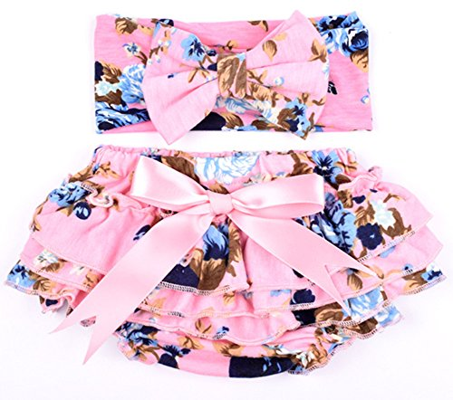 Coralup Newborn Infant Babys 2pcs Mermaid Ruffle Bloomers /& Headband Set 0-24 Months